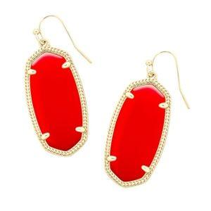Kendra Scott Elle Earring in Bright Red / Gold